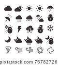 25 Icon set No.16 (weather) 76782726