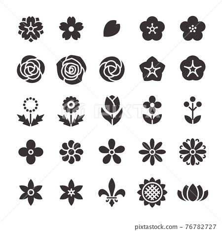 icon, icons, flower 76782727
