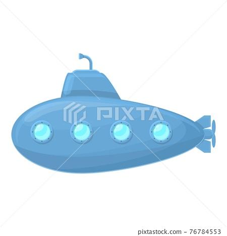 Travel submarine icon, cartoon style 76784553