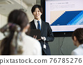 Businessman speaking at a meeting 76785276