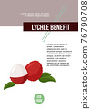 Lychee fruit vector poster. Design template for article, menu and meal card. 76790708
