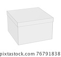 Simple contour closed box, isolated on white, 3d render 76791838
