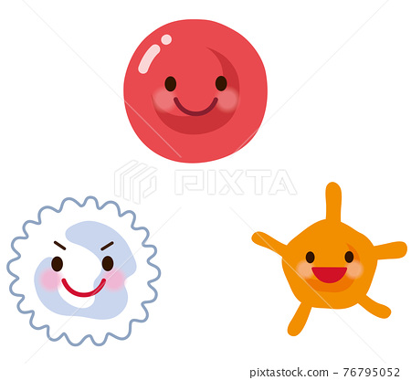 Red blood cells white blood cells platelets 76795052