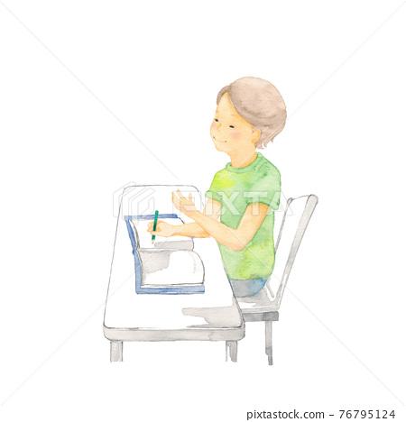 어린이, 아이, 공부 76795124