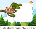 Bird and chicks banner template 76797137