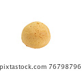 Mochi bun, a close up of Japanese traditional homemade mochi bread bakery isolated on white background. 76798796