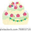 蛋糕 生日蛋糕 裱花蛋糕 76803716