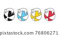 cat vector kitten icon ball calico logo sleeping pet beach sport cartoon character sport doodle symbol illustration design 76806271