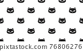 cat seamless pattern kitten head calico vector pet scarf isolated cartoon animal tile wallpaper repeat background illustration doodle design 76806276