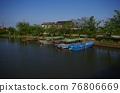 riverside district, boat, river 76806669