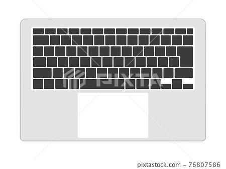 簡約銀色電腦鍵盤黑鍵 76807586