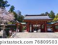 神殿 櫻花 櫻 76809503
