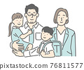 family, household, work together 76811577