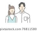 couple, heterosexual couple, family 76811580