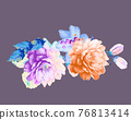 Beautiful colorful watercolor flowers and roses 76813414