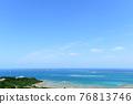 Okinawa, blue water, marine 76813746