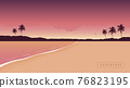 purple secret paradise beach summer holiday background 76823195
