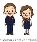 商務男人和女人微笑 76829448