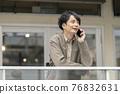 male, man, smart phone 76832631