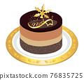 蛋糕 聖誕季節 聖誕節期 76835725