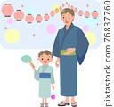 lifestyle, yukata, summer 76837760