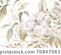 Beautiful colorful watercolor flowers and roses 76847063