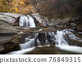Valley, a waterfall, waterfall 76849315