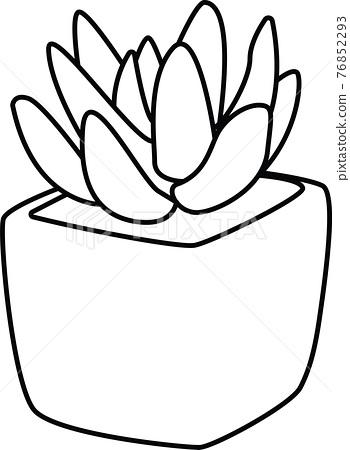 다육 식물, 선인장, 벡터 76852293