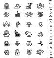 eco icon set 76856129
