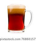Red beer mug isolated on white background 76860157