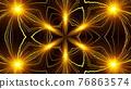 Kaleidoscope burning fireworks abstract background. 76863574