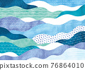 wave, japanese pattern, ocean 76864010
