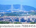 akashi kaikyo bridge, akaishi strait, cityscape 76864456