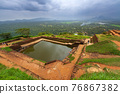 Ruins on top of Sigiriya Lion's rock palace and fortress 76867382