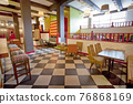 Colorful interior of stylish cozy color cafe 76868169