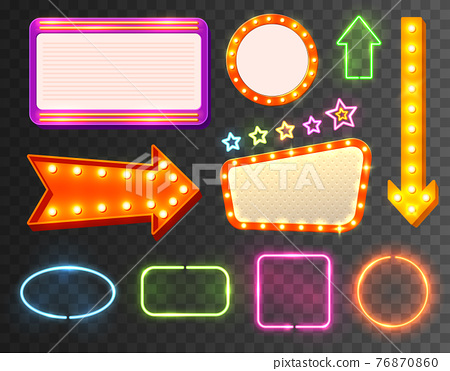 Neon Sign Icon Set 76870860