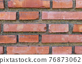 Dirty broken brick wall with mold. Abstract background 76873062