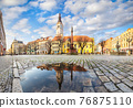 Swidnica, Poland. Panorama of Market Square (Rynek) 76875110
