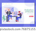 Evaluations of Results Web Page Banner Template 76875155