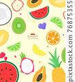 paster, sticker, fruit 76875355