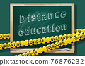 Distance education. New normal concept. COVID-19 lockdown. 76876232