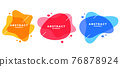 abstract colors frame modern banners set 76878924