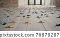 Repair in the house - on the floor laid ceramic tiles 76879287