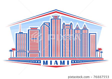 Vector illustration of Miami 76887553