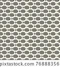 Nautical seamless pattern with swimming cartoon fish 76888356