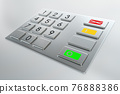 Atm machine keypad with numbers 3D illustration 76888386