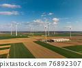 Wind turbines aerial view 76892307