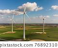 Wind turbines aerial view 76892310
