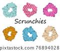 Scrunchies vector set 76894028