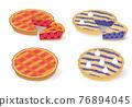 Pies vector set 76894045